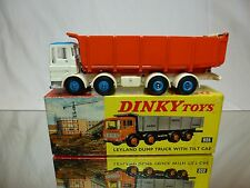 DINKY TOYS 925 LEYLAND DUMP TRUCK  - WHITE ORANGE 1:50? - EXCELLENT IN BOX