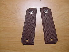 U.S.G.I. Brown Plastic Nylon Grips for the M 1911 A1 Pistol - New Unissued USGI