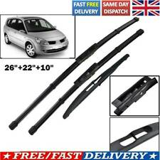For Renault Scenic / Grand Scenic MK2 UK Front Rear Windscreen Wiper Blades 2009