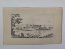 Glasgow From The South West About 1768, Antique 1881 Illustration/Print P3