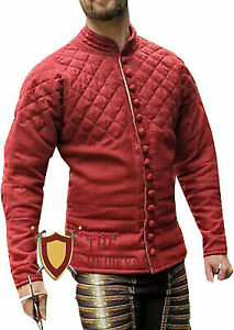 Medieval armor Red Color Costumes dress Gambeson sca larp