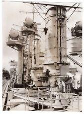 1935 Upper Structure of German Light Cruiser Konigsberg Original News Photo