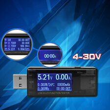 USB LCD Multi Function Tester Voltmeter Ammeter Current Voltage Capacity Monitor