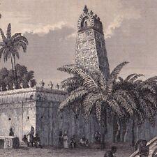 Pagoda Pondichéry Puducherry Pondicherry Inde India Bouddhisme Buddhism 1848