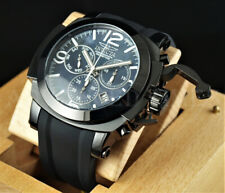 Invicta 53mm Coalition Force MAN OF WAR Swiss Z60 Chrono MOP Dial Black IP Watch