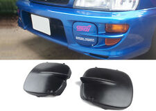 For 97-01 Impreza STI GC8 Fog Light Covers 2/5 Door Black Unpainted Pair NEW