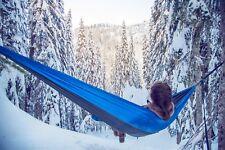 Single Nylon Camping Hammock Hiking Beach Camping BLUE