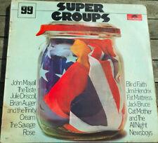 Jimi Hendrix, Cream, Taste etc, Super Groups vinyl LP, Polyfdor 1970