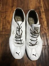 Vintage Puma TURIN White/Brown Trim Men's US13 Shoes w/Box