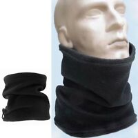 Mens Womens Thermal Warm Fleece Snood Scarf Neck Warmer Ski Wear