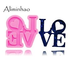 Dy0284 Shiny Love letter form Silicone Molds Diy epoxy resin molds Keychain