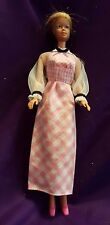 Barbie Doll Pink Checked Dress with Pink Shoes, Vintage, 1970s, Mattel