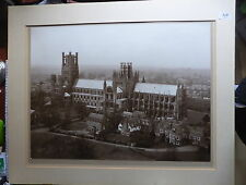 LARGE ORIGINAL PHOTOGRAHIC  PRINT OF ELY CATHEDRAL ENGLAND ESTIMATED DATE 1900's