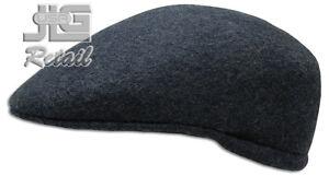 Newsboy Wool Felt Gatsby Cap Mens Ivy Hat Golf Winter Cold Flat Cabbie Ascot New