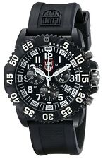Luminox New 3081 Navy Seal Colormark Chronograph Black Rubber Mens Watch A.3081