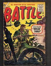 """Battle #45 ~ """"Break Thru""""/ John Romita Sr. Story/ Atlas 1956 (5.0) WH"""