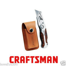Craftsman Folding Lockback Utility Knife With Sheath