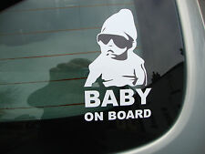 2  BABY ON BOARD   CAR WINDOW STICKERS  DECALS POLICE SAFETY  TOP  QUALITY