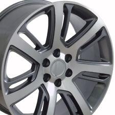 "24"" Cadillac Escalade GMC Chevy Stye Rims Wheels Gunmetal and Machine Set of 4"