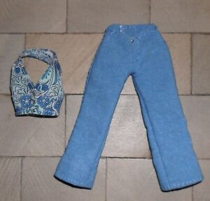 1/12TH SCALE DOLLS' BLUE TOP AND TROUSERS