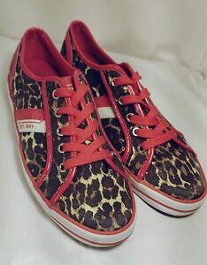 "COACH ""DEJA"" Women's Leopard Brown/Tan/Red Athletic SNEAKERS Shoes~Size 8B"