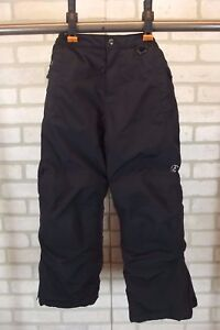 Lands End Grow-A-Longs Insulated Snow Pants Small Youth Black Girls Boys Ski