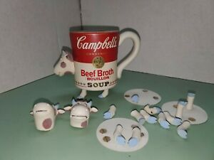 Campbell's Beef Broth soup mug w/cow head & feet advertising/ad figure