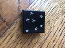 Vintage Black & Stars Brass Pill Box