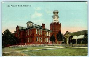 ROME, Georgia GA ~ CITY PUBLIC SCHOOL ca 1910s Floyd County  Postcard