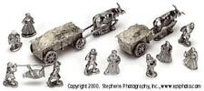 Old Glory War of the Roses 25mm Civilians w/Ox Drawn Carts Pack MINT