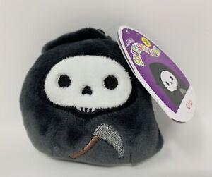 "Squishmallows Otto Grim Reaper Halloween Clip 3.5"" Stuffed Plush Toy Kellytoy"