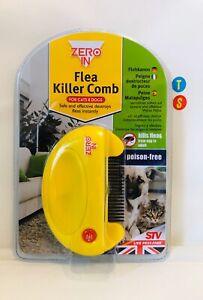 FLEA KILLER ELECTRIC COMB FOR PET CATS DOGS KILLS EGGS FLEAS STV ZERO IN NEW