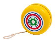 Yo-Yo, Yoyo, Jo-Jo, Jojo in legno, colore giallo, vintage, cm 5,6, corda cm 74