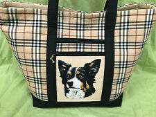 Gorgeous Custom Embroidered Border Collie Tote