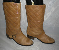 LOGO 69 WOMENS  Brown Pull On Synthetic Leather  Mid Calf Boots Size:5/38(WB392)