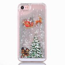 Dynamic Quicksand Christmas Tree Patterned PC Case Cover For iPhone X 8 7 Plus 6
