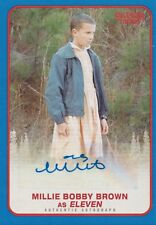 Stranger Things Season 1, MILLIE BOBBY BROWN 'ELEVEN' Blue Autograph Card #09/10