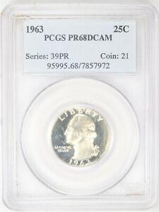 1963 Proof Washington Quarter PCGS PR 68 DCAM AC640