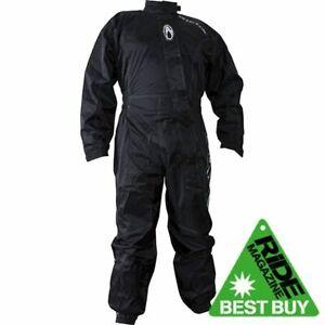 Richa Typhoon Rain Waterproof Motorcycle One Piece Suit Overall Black