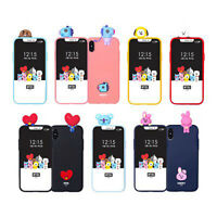 BTS BT21 Official Goods Bbakkom Figure Soft Phone Case for iPhone / Galaxy