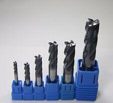 HRC45 4 flute DIA 4MM 6MM 8MM 10MM 12MM 14MM carbide end mills set CNC cutting