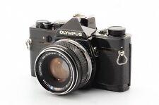 Exc Olympus OM-1 35mm SLR Film Camera Black ZUIKO 50mm f/1.8 lens Kit #377