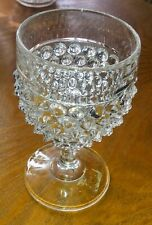 Pointed Hobnail Goblet.  Columbia Glass