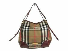 Auth Burberry BRIDLE HOUSE CHECK MEDIUM CANTERBURY TOTE Bag 3826440 (BF303282)
