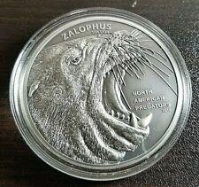 2016 Cook Islands - North American Predators - Sea Lion - 2 oz .999 Silver Coin