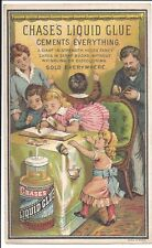 Colorful Trade Card, Chases' Liquid Glue, Scrap Booking c1880s