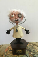 HALLOWEEN DOCTOR Brain Donor Department 56 Drawer With Brain Mad Doctor Fur Hair