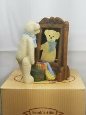 Sarah's Attic, The Michaud Collection, Just Ted W/Mirror, Bear, Rare Figure