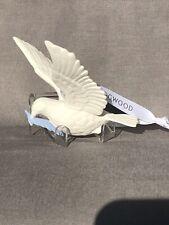 "Wedgwood Jasperware White Dove Christmas Ornament 3.7"" in Box"