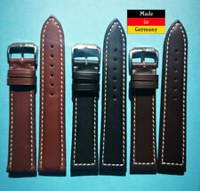 20mm Cuero Becerro Correa Reloj En 3 Colores Resistente Al Agua Made in Germany